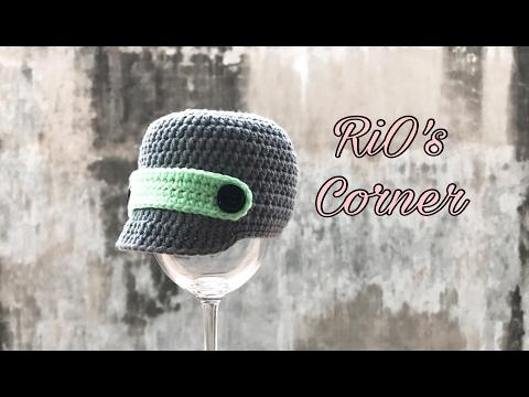 [Crochet] Brimmed Hat for baby   Hướng dẫn móc mũ lưỡi trai cho bé
