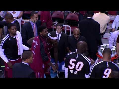 LeBron James Yells At Mario Chalmers (2013.12.18)