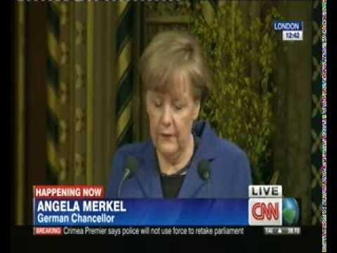Chancellor Angela Merkel address to joint UK House of Parliament 2014 Full Speech