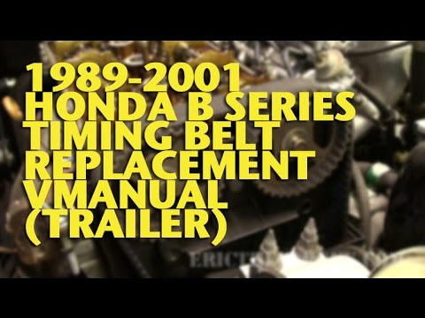 Honda/Acura Integra B Series Timing Belt Video - Eric The Car Guy