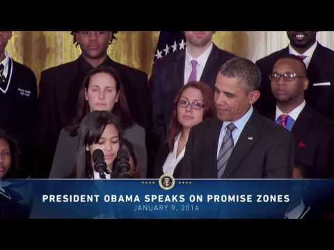 HCZ Student Kiara Molina Introduces President Obama