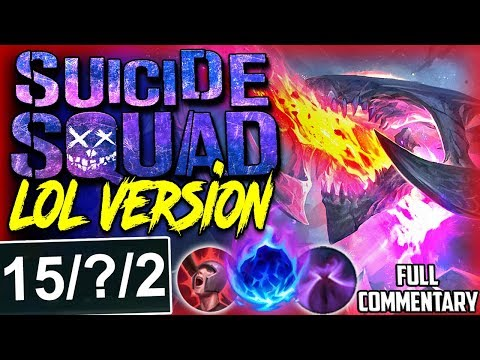 SUICIDE SQUAD LoL VERSION | BORN TO TROLL AND DIE SOLO | Cho'Gath vs Quinn S8 Ranked Gameplay