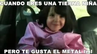 Cuando eres bebé y te gusta el metal