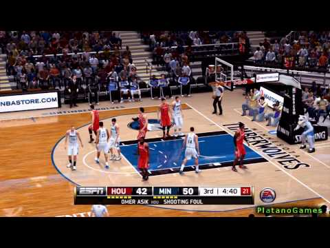 NBA Houston Rockets vs Minnesota Timberwolves - 3rd Qrt - NBA Live 14 PS4 - HD