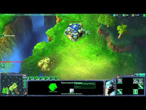 Starcraft II - Terran Tutorial Working up from Bronze League - Part3