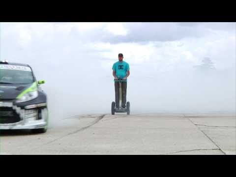 DC SHOES KEN BLOCK'S GYMKHANA THREE, PART 2 BONUS TRICK EDIT: SEGWAY DONUTS