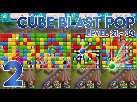 Cube Blast Pop Level 21 to 30 - Gameplay Walkthrough Part 2