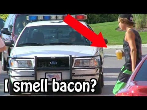 """Kids Drinking Beer PRANK ON COPS… """"I THINK I SMELL BACON"""""""
