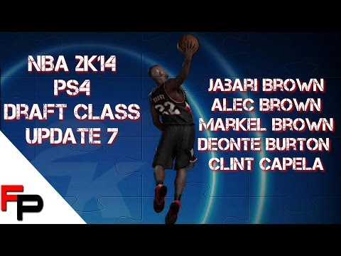 NBA 2K14 Draft Class - PS4 - Upd. 7 - Jabari, Alec and Markel Brown, Deonte Burton & Clint Capela