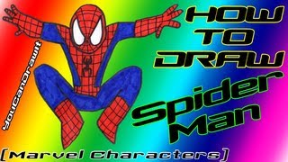 How To Draw Spider-Man Marvel Characters YouCanDrawIt ツ