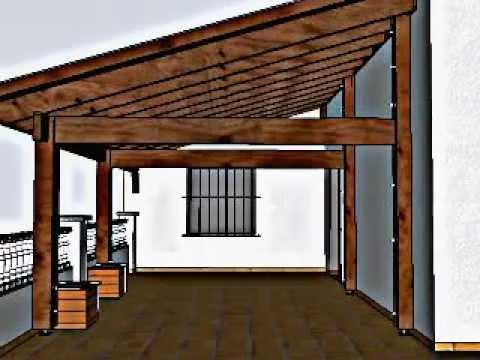 Dise o de porche en una terraza en llli a de munt for Diseno techos para terrazas