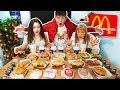 ENTIRE McDonald s Menu in 10 MIN Challenge WORLD RECORD