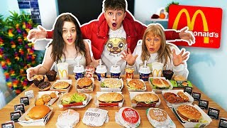 ENTIRE McDonald's Menu in 10 MIN Challenge!! *WORLD RECORD*