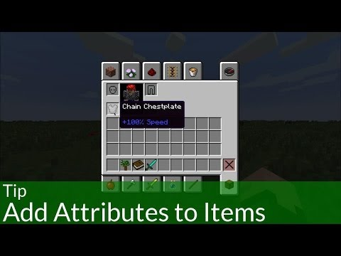Tip: Add Attributes to Items in Minecraft