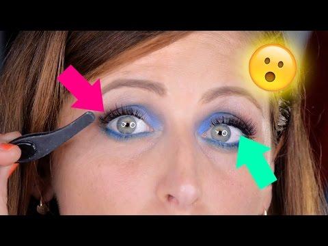 Trucchetto Geniale 😮 Come Mettere Ciglia Finte Dall'Interno Dell'Occhio 👁