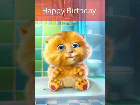 Happy Birthday | Cat Saying Birthday Wishes | Happy Birthday to You