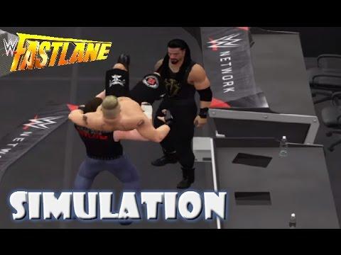 WWE 2K16 SIMULATION: Brock Lesnar vs Dean Ambrose vs Roman Reigns | Fastlane 2016 Highlights