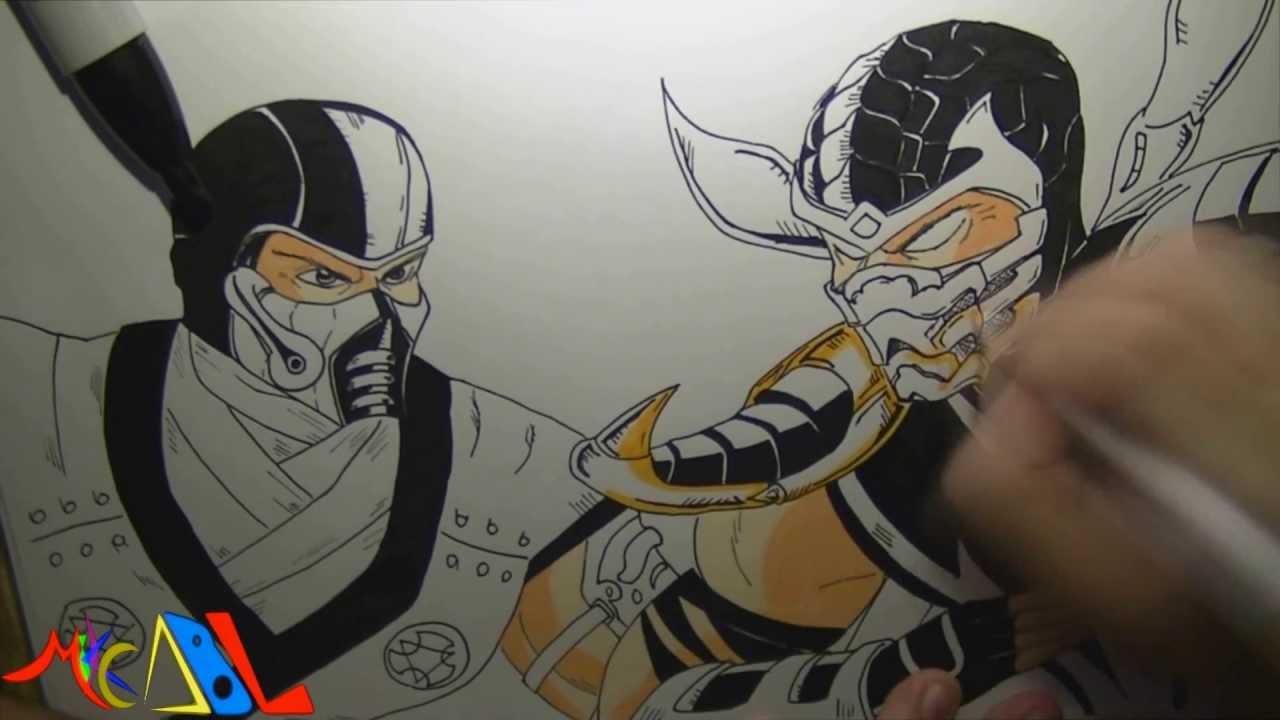 Dibujando a: Sub Zero Vs Scorpion - YouTube