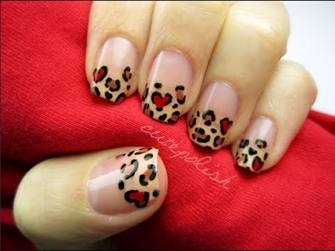 Valentine's Day Leopard Nails!!, facebook.com/cutepolish | twitter: @cutepolish | instagram: cutepolish COLORS USED: - China Glaze Sunset Sail - China Galze Salsa - OPI Chocolate Moose Music...