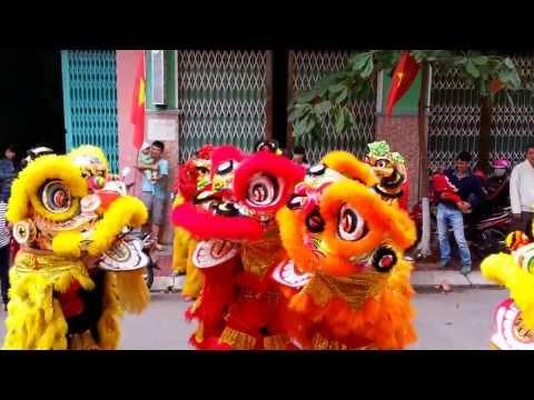 Múa Lân mùng 1 Tết 2014 tại nhà Hadaicon - TP Quy Nhơn