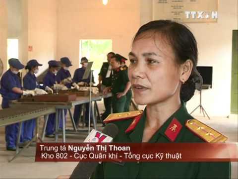Phụ nữ Cục Quân khí nhận Giải thưởng Phụ nữ Việt Nam 2011, Vũ khí  VN