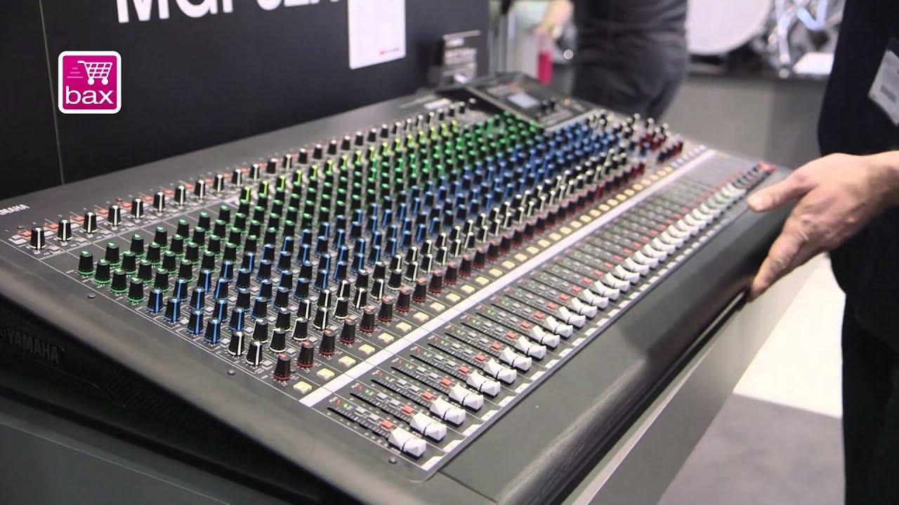 Musikmesse 2013 yamaha mgp24x en mgp32x mixing consoles for Yamaha mgp24x 24