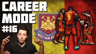 West Ham Career Mode #16 - BELGIUM WORLD CUP! - Fifa 14
