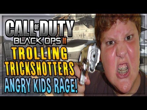 TROLLING TRICKSHOTTERS - Angry Kids Rage in Black Ops 2
