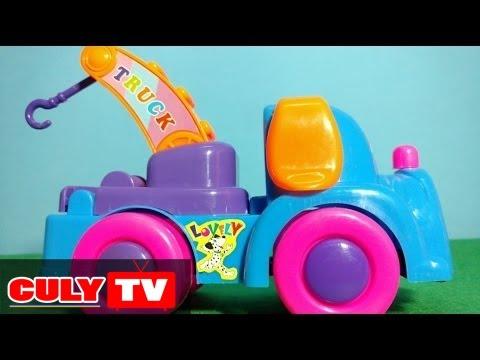 Đồ chơi trẻ em - Xe mốc, xe cần cẩu kéo xe bồn hoạt hình đầu chú chó dễ thương | trunk car toy kids