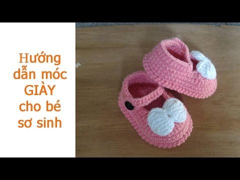 Hướng dẫn móc giày cho bé sơ sinh p2 - Boom House