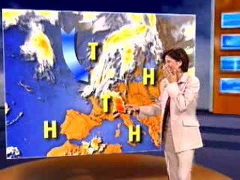 完全失控的天氣報導員,傳播笑聲瘟疫!