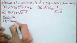 Funciones Calculo Del Dominio De Una Función