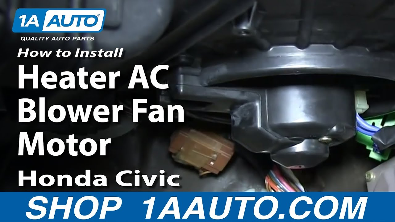 how to install replace heater ac blower fan motor 1992