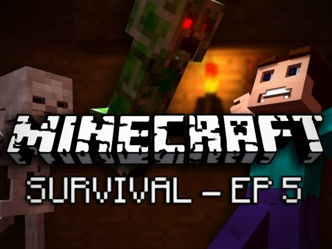 Minecraft: Survival Let's Play Ep. 5 - Diamonds!