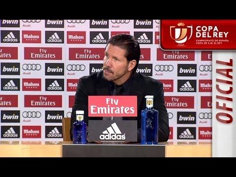 Rueda de Prensa de Simeone tras el Real Madrid (3-0) Atlético de Madrid - HD Copa del Rey