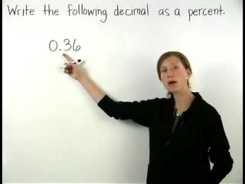 how to change a decimal to a percent youtube