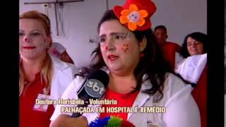 Doutores palha�os levam humor e sorriso a hospital em Divin�polis