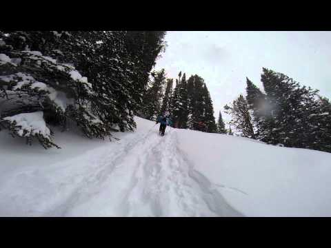 Skiing Jackson Hole side country March 2014
