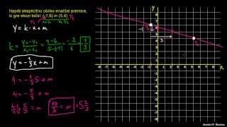 Enačba premice 4