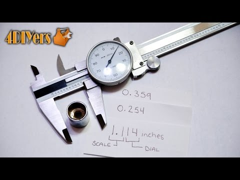 DIY: Reading a Dial Vernier Caliper (Imperial)