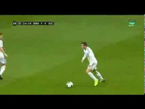 Gareth Bale Amazing Goal - Real Madrid vs Elche 3-0 (22-2-2014) HD