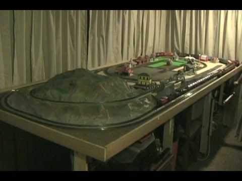 Small ho scale train layout youtube - Ho train layouts for small spaces image ...