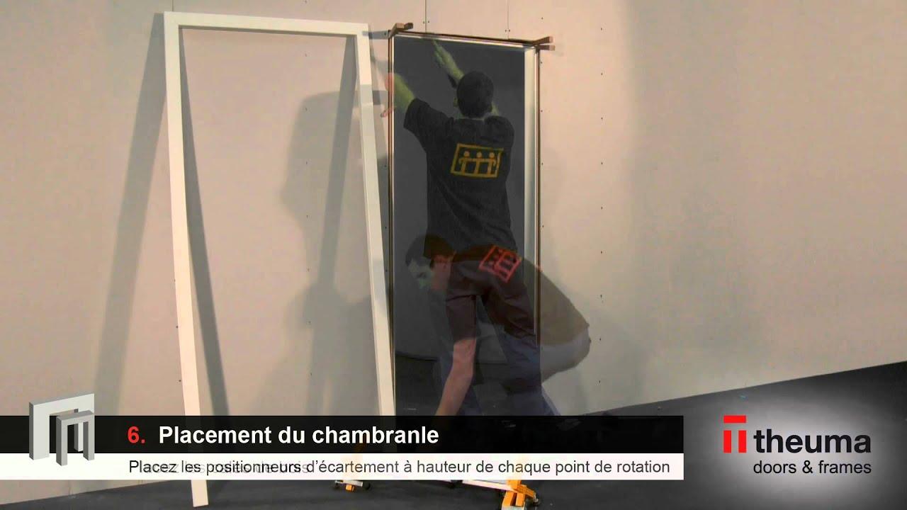Notice de pose d 39 un ensemble porte r couvrement sur for Chambranle de la porte