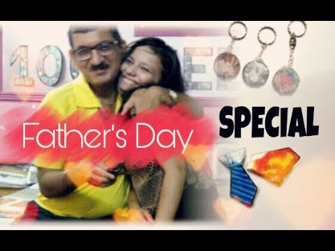 DIY- How make personalized key ring and earphone holder for Father's Day  DIY Father's Day special