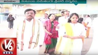 Ex MP Vivek visits Tirumala With Family