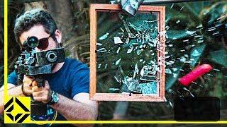 DIY Nerf Blaster Breaks Glass!
