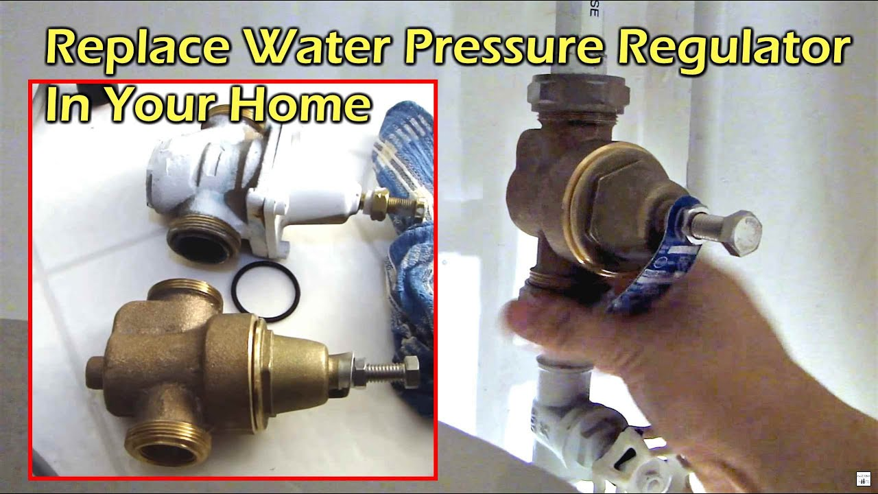 replacing house water pressure regulator watts n55b youtube. Black Bedroom Furniture Sets. Home Design Ideas