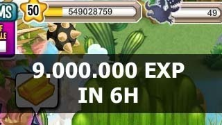 How To Get 9 MILLION Experience Fast In Dragon City In 6