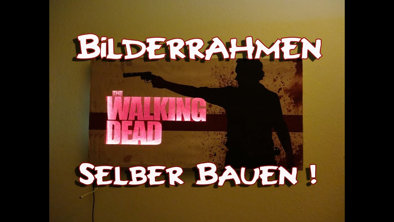 the walking dead bilderrahmen selber bauen so wirds gemacht youtube. Black Bedroom Furniture Sets. Home Design Ideas