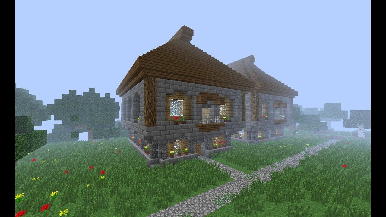 Схема красивых домов minecraft фото